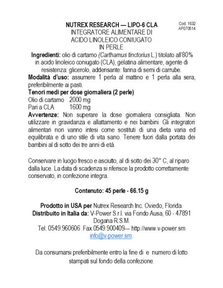Lipo 6 CLA / 180 SoftGel [CLONE]