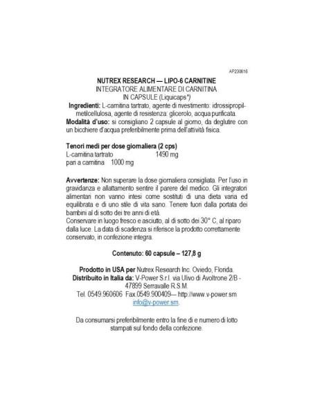 Lipo 6 Carnitine120 Liquid Caps [CLONE]