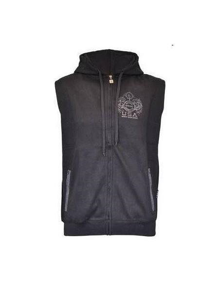 Sleeveless Hooded Jacket