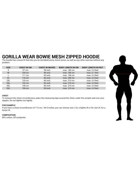 Bowie Mesh Zipped Hoodie