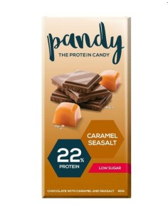 Tavoletta di Cioccolato proteica al caramello salato 25x80 gr
