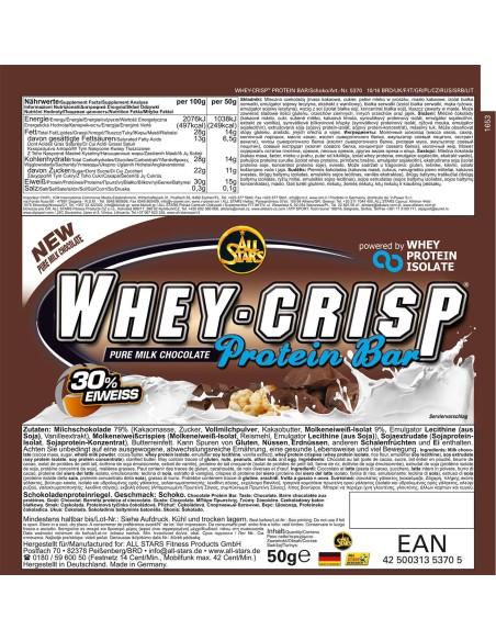 Whey Crisp Protein Bar 25x50 gr