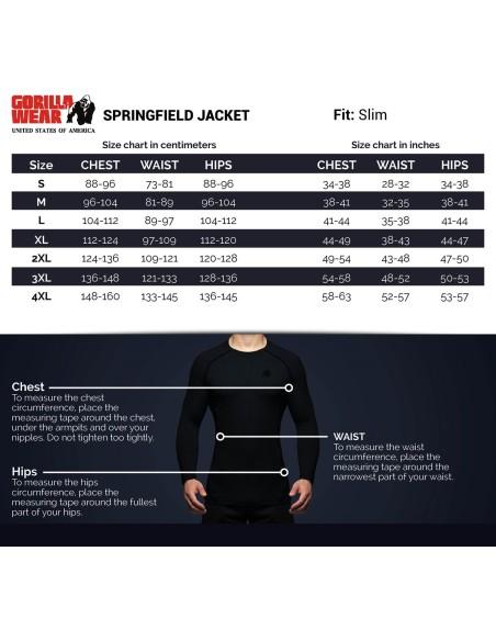 Springfield S/L Zipped Hoodie - Black