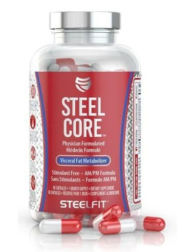 PT STEEL CORE (90 CAPS) RED/WHITE