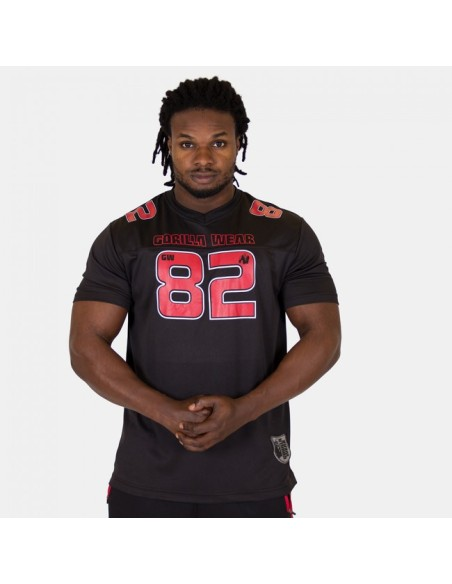 Fresno T-shirt - Black/Red